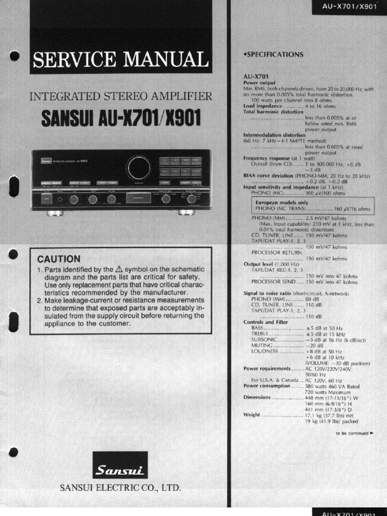 Sansui-AU-X701-X901 Service Manual