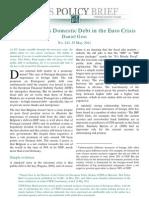 No 243 Gros on External vs Domestic Debt in EZ Crisis