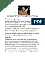 Biography of Stiffen Hawking