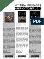 Sept-Oct 2010 New Releases - Bennetts