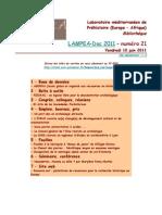LAMPEA-Doc 2011 - numéro 21 / Vendredi 10 juin 2011