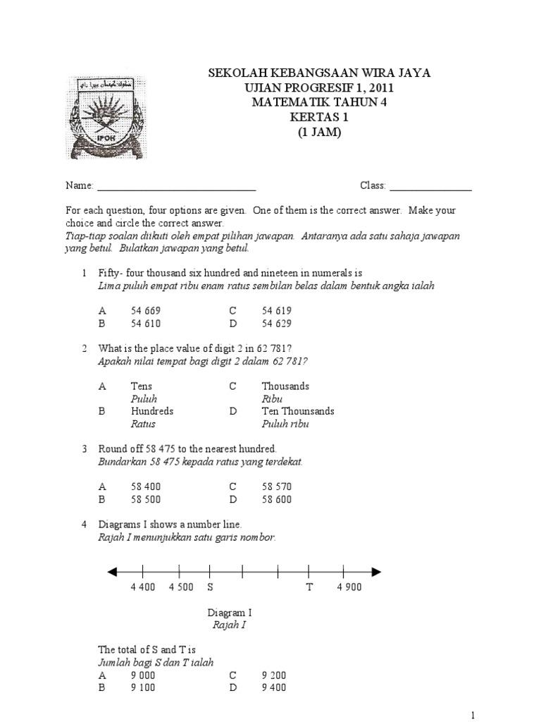 Soalan Matematik Tahun 4 Bentuk Dan Ruang Lamaran G
