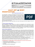 Body Art or Body Modification