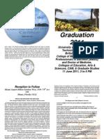 Usat 2011 Commencement Program