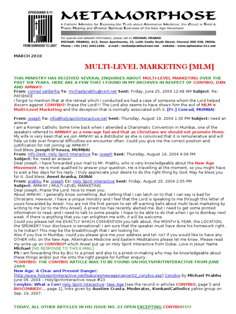 Multi level marketing multi level marketing religion and belief fandeluxe Choice Image