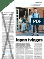 """""""Japan tvingas söka nya vägar"""", för LO-tidningen"""