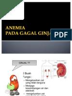 Anemia Pada Gagal Ginjal
