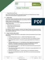 Medical Device Design Verification SOP