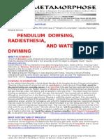 Pendulum Dowsing Radiesthesia Water Divining Summary