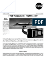 NASA Facts F-15 B Aerodynamic Flight Facility