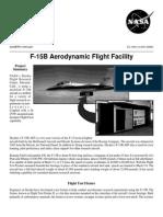 NASA Facts F-15 B Aerodynamic Flight Facility
