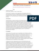 IT Governance and Project Portfolio Management