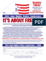 2011 Gun Rights Policy Conference Flyer