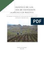 Diagnostico de la extensión agricola en Bolivia