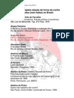 Breve e incompleta relação de livros de cunho social publicados (nem todos) no Brasil