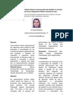 Diagnóstico das condições físicas e psicossociais de trabalho no serviço de restauração de um Organismo Público