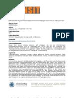 Differenzerfahrung und transnationale Grenzüberschreitung im Europadiskurs Zafer Şenocaks