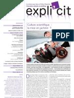 Expli'cit n°1 - janvier 2011