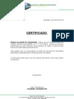 certificado de trabajo