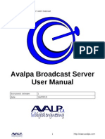AvalpaBroadcastServerUserManual-v1.0