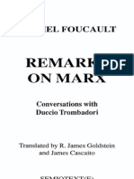 Foucault - Remarks on Marx
