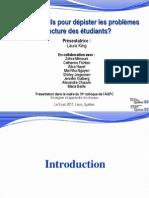 611 - Des outils pour dépister les problèmes de lecture des étudiants