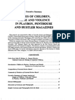 Images of Children, Crime and Violence in Playboy, Penthouse, and Hustler - Summary