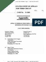 PURPURA v SEBELIUS (THIRD CIRCUIT) - Pro Se Appendix - Transport Room