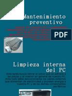Mantenimiento Preventivo y Corectivo de Una Pc