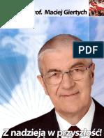 prof. Maciej Giertych - Z nadzieją w przyszłość