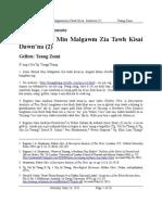 Zomi Mimal Min Malgawm Zia Tawh Kisai Dawn'na (2)