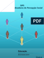 Indicadores de Percepcao Social Educacao IPEA