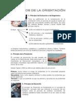 PRINCIPIOS DE LA ORIENTACIÓN