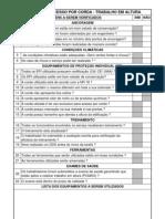 Check List Acesso Por Corda