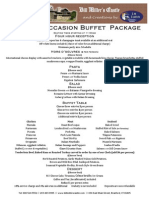 Buffet Package