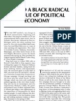 Toward a Black Radical Critique of Political Economy