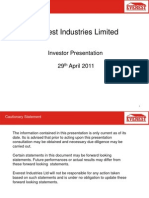 EverestIndustriesInvestorPresentationMarch2011[1]