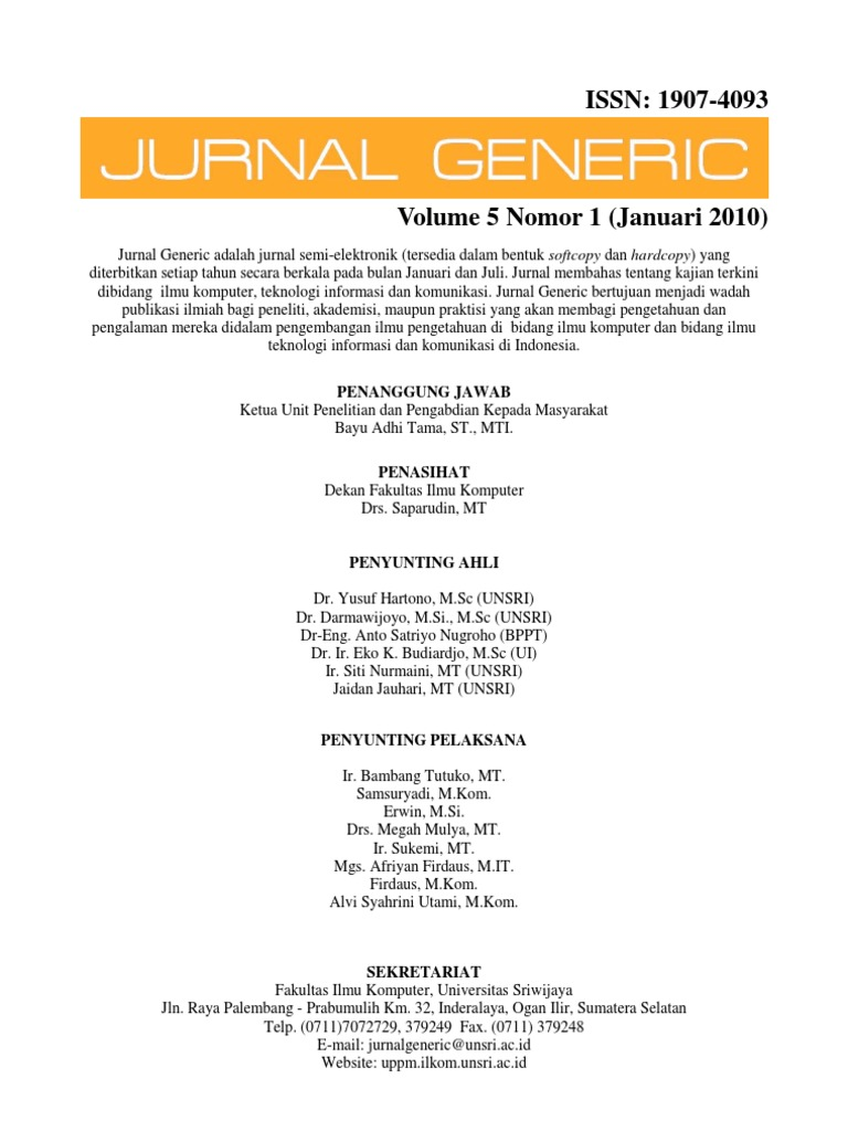 Jurnal generic vol 5 no 1 januari 2010 malvernweather Gallery