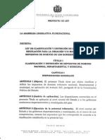 Proyecto de Ley de Clasificación y Definición de Impuestos Bolivia