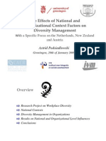 The Effects of National and Organizational Context Factors on Diversity Management