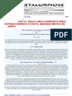 New Community Bible 17 Critique Derrick D-costa Bahrain Writes on Orkut