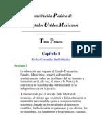 Articulo 3 - Constitución Política de los Estados Unidos Mexicanos