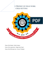 Summary Report Field Work Child Setting