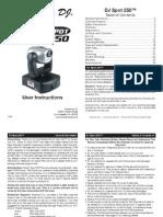 Manual de La Dj Spot 250