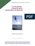 Glosario_funciones Activadoras de La Motivacion y Emocion