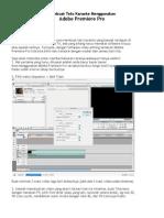 Membuat Teks Karaoke Menggunakan Adobe Premiere Pro