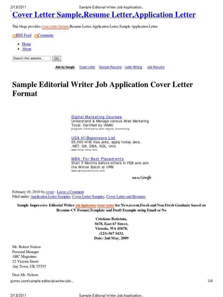 what is a job application cover letters