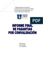 Informe Final de Pasantias