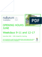 Opening Hours June 2011