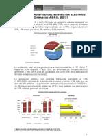 Avance Estadstico_Subsector Elctrico - Abril 2011